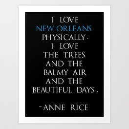 Anne Rice Art Print