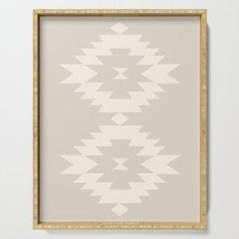 Southwestern Minimalism - White Sand Serving Tray