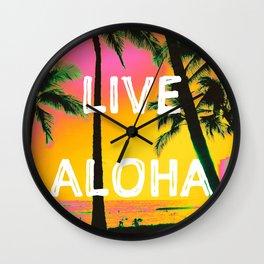 LIVE ALOHA Wall Clock