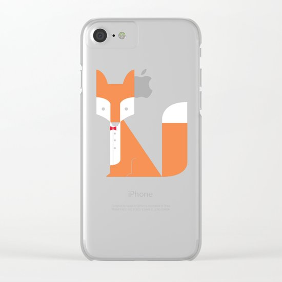 Le Sly Fox Clear iPhone Case