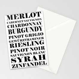 Wine Celebration - White Stationery Cards