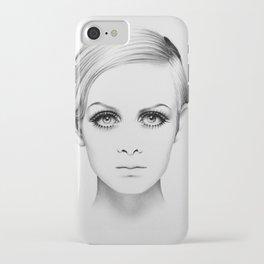 Twiggy Minimal Portrait iPhone Case