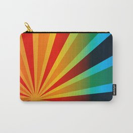 RED YELLOW ORANGE BLUE SUNBURST Abstract Art Carry-All Pouch