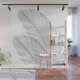 Palm Leaves Finesse Line Art #1 #minimal #decor #art #society6 Wall Mural