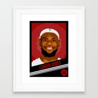 8bit Framed Art Prints featuring 8bit King by Mochokla