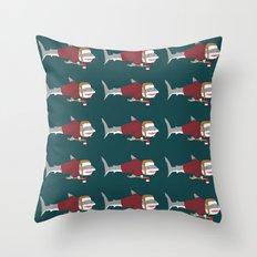 Shark LumberJack Throw Pillow