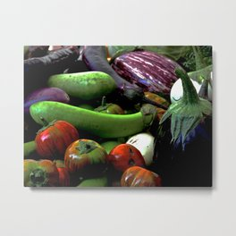 At the Farmer's Table Metal Print