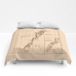 1770s Maps: Lakes Champlain and George (adapted) Comforters