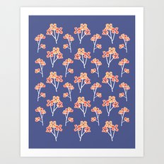 anemone flowers :: lavender Art Print