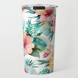 Bright and Bold Flowers Travel Mug