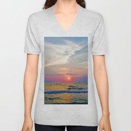 Naples Florida sunset on the Gulf of Mexico Unisex V-Neck