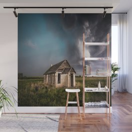 Pioneer - Abandoned Settlement Under Storm On Colorado Plains Wall Mural