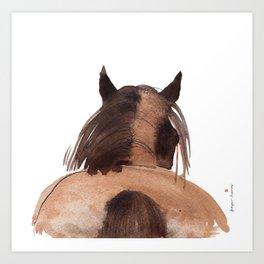 Horse (Mane&tail) Art Print
