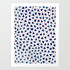 Confetti Triangles Art Print