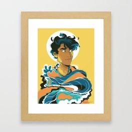 Son of the Sea: Percy Jackson Framed Art Print