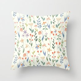 Wildflowers in the Air Light Throw Pillow