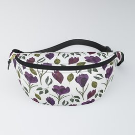 Plum Rose Pattern Fanny Pack