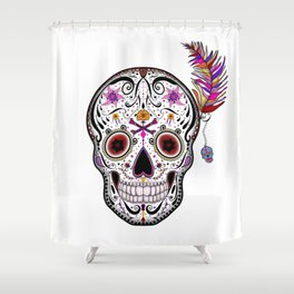Sweet as Sugar Skull Shower Curtain