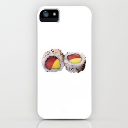 Sushi Philadelphia tune and avocado iPhone Case