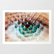 Green Eyes Hypnotize  Art Print