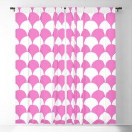 Fan Pattern 321 Pink Blackout Curtain