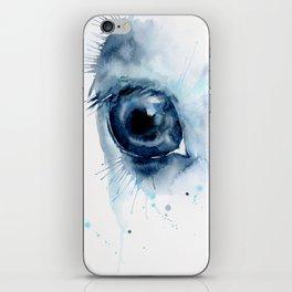 Watercolor Horse Eye iPhone Skin