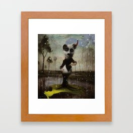 an end in flight Framed Art Print