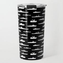 Battleship // Black Travel Mug