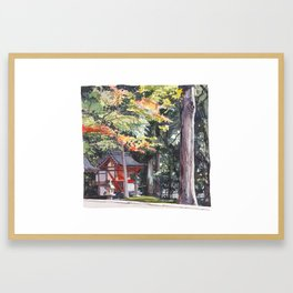 Shrine garden in Nara Framed Art Print