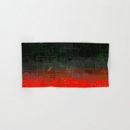 Dark Red Black Emerald  Multi-Pattern Overlay Design Hand & Bath Towel