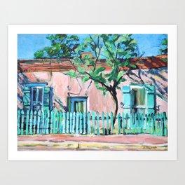 Canyon Road House, Santa Fe Art Print