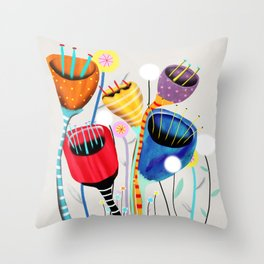 Ruth Fitta-Schulz - California Poppies Throw Pillow