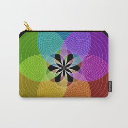 Rainbow Mandala Carry-All Pouch