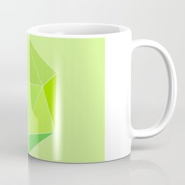 Geometric art, icosahedron, lime green. Coffee Mug
