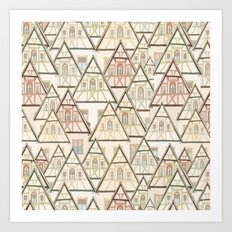 Pattern Houses Art Print