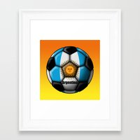argentina Framed Art Prints featuring Argentina Ball by kuuma