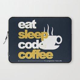 Programmer : Eat, Sleep, Code, and Coffee Laptop Sleeve