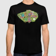 map of the happiest place on earth in CA  Mens Fitted Tee Black MEDIUM