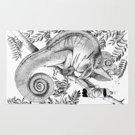 Burpping Chameleon Rug