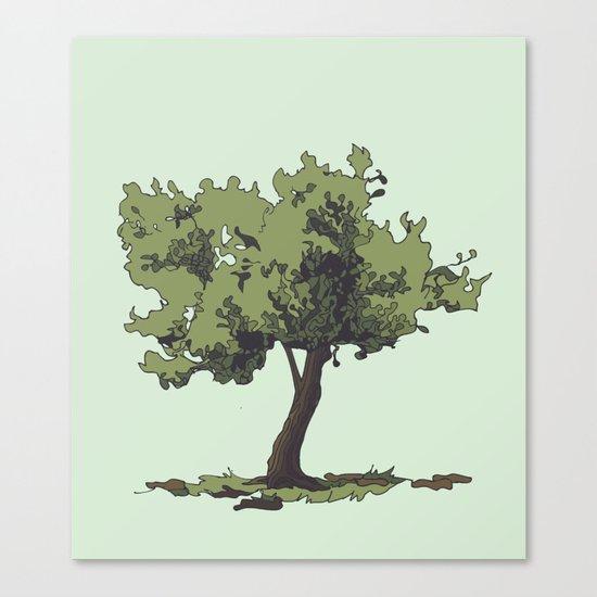 Life is Beautiful Olive Tree Canvas Print