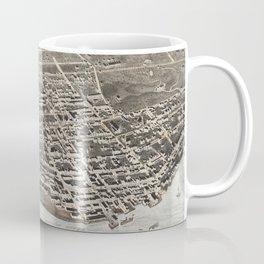 Vintage Pictorial Map of Newburgh New York (1875) Coffee Mug