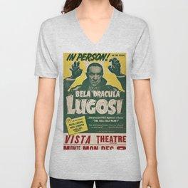 Dracula, Bela Lugosi, vintage poster Unisex V-Neck
