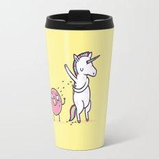 How donuts get sprinkles Travel Mug