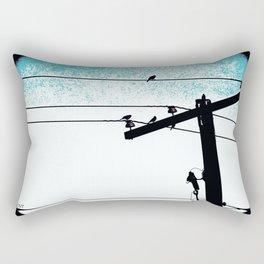 Power lines 507 Rectangular Pillow