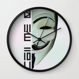 Call me V Wall Clock