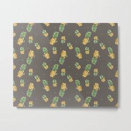 Kaki pineapple pattern Metal Print