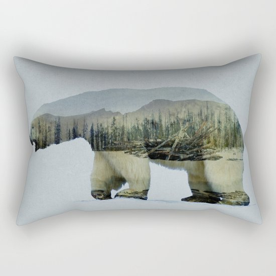 The Polar Bear Rectangular Pillow
