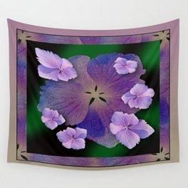 LACECAP HYDRANGEA FLOWER BOUQUET  Wall Tapestry