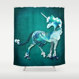 Unicorn of the Sea Shower Curtain