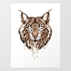 Iberian Lynx: Drifting Art Print
